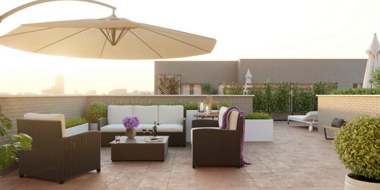 Residencial Campus Badajoz fase 1 terraza altecnic promotora constructora
